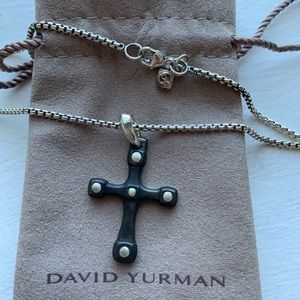 David Yurman Anvil Cross Necklace.